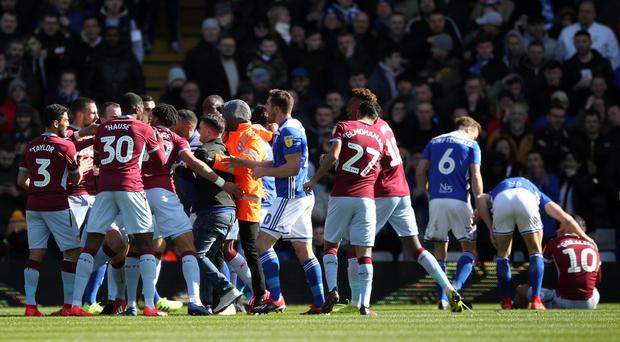 A Birmingham fan attacked Aston Villa's Jack Grealish on the pitch during March's match at St Andrew's (Nick Potts/PA).