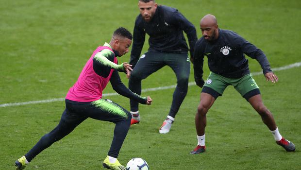 Gabriel Jesus (left) is looking forward to tackling Manchester City team-mate Nicolas Otamendi (centre) when Brazil take on Argentina (Nick Potts/PA)
