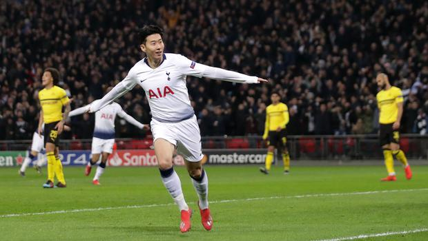 Son Heung-min has scored 20 goals in 47 games this season, including the opener against Dortmund in the last 16. (John Walton/PA)