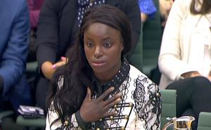 Eniola Aluko answered questions in front of a Digital, Culture, Media and Sport committee in 2017 (PA)