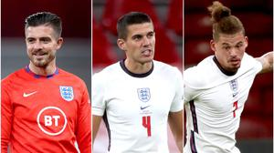 Jack Grealish, Conor Coady and Kalvin Phillips made their England debuts against Denmark (Nick Potts/PA).