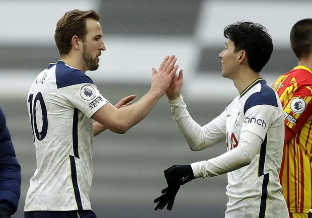 Roy Keane claimed Harry Kane and Son Heung-min would be the only Tottenham players worthy of a top-four Premier League side (Matt Dunham/PA)