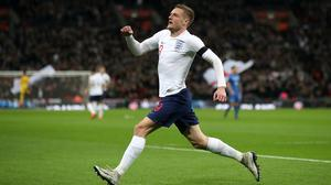 Jamie Vardy made his England debut against Ireland in 2015. (Nick Potts/PA)