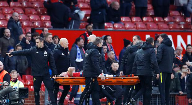 Manchester United's Scott McTominay will have scans on his ankle on Monday (Martin Rickett/PA)