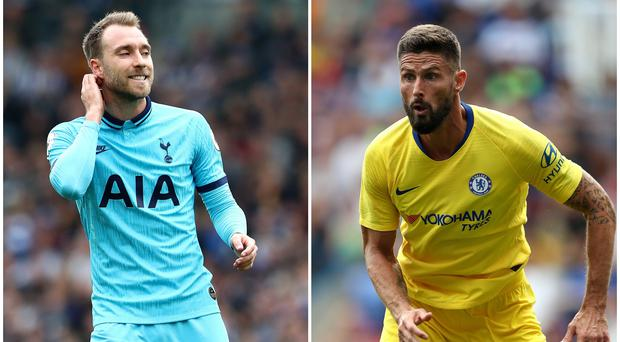 Could Christian Eriksen and Olivier Giroud be on the move? (Gareth Fuller/David Davies/PA)