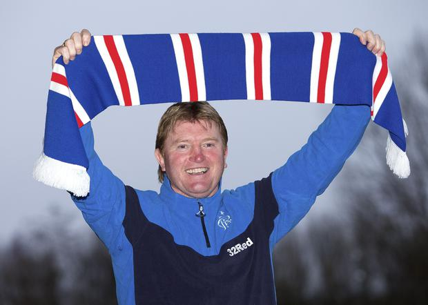 Stuart McCall, pictured, replaced McCoist as manager (Kirk O'Rourke/Rangers FC wire)