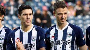 Jonny Evans (right) and Gareth Barry were both booed by a small section of the home support before kick-off
