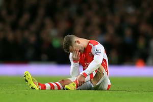 Wilshere has been plagued by ankle injuries in recent seasons.