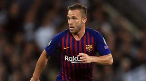 Barcelona midfielder Arthur Melo will join Juventus at the end of the season (Mike Egerton/PA)