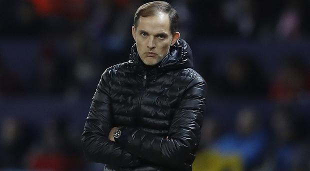 Thomas Tuchel was not happy after PSG slipped up (Martin Rickett/PA)