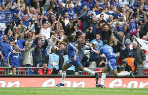 Drogba's extra-time goal against Manchester United in the 2007 final sealed Chelsea's fourth FA Cup win (Nick Potts/PA)