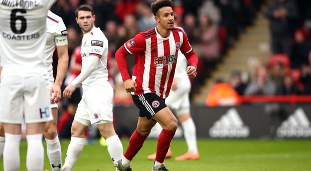 Callum Robinson scored early for Sheffield United (Tim Goode/PA)