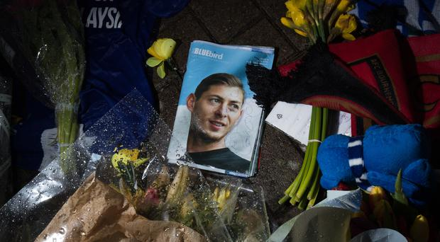 Tributes were left outside the Cardiff City Stadium for Emiliano Sala (Aaron Chown/PA)
