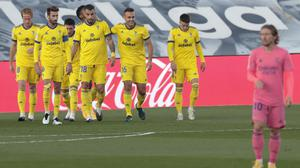 Real Madrid suffered their first LaLiga defeat as Cadiz pulled off a shock win at the Alfredo di Stefano stadium (Bernat Armangue/AP)