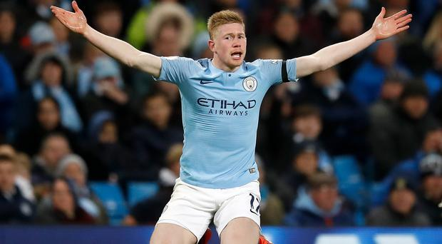 Kevin De Bruyne recognises Manchester City still have a huge challenge ahead of them (Martin Rickett/PA)
