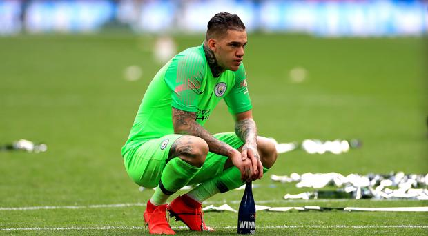 Ederson suffered a muscular problem in the midweek Champions League game against Atalanta.