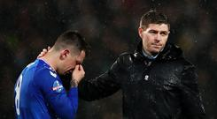 Rising again: Rangers boss Steven Gerrard and Ryan Jack need to bounce back after the Betfred Cup final defeat to Celtic