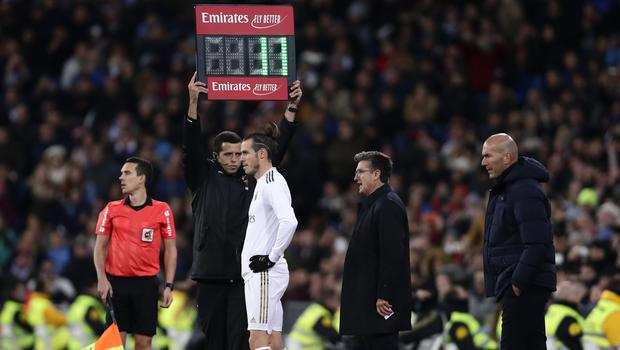 Gareth Bale received a frosty welcome when he came on during the second half (Manu Fernandez/AP)