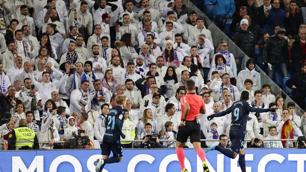 Willian Jose's early goal had left the home fans stunned at the Bernabeu (Manu Fernandez/AP)