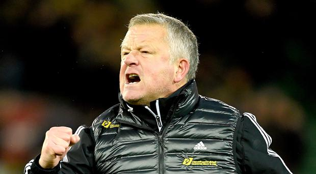 Chris Wilder is confident his Sheffield United team will be able to maintain its consistency during the second half of the season (Joe Giddens/PA)