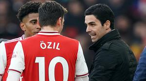 Arsenal head coach Mikel Arteta has suggested Mesut Ozil could return to his side at some point. (John Walton/PA)
