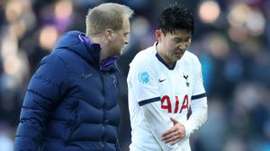 Son Heung-min (right) has undergone surgery on a broken arm (Nick Potts/PA)
