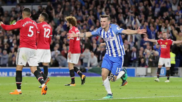 Pascal Gross scored the goal which meant United lost to Brighton