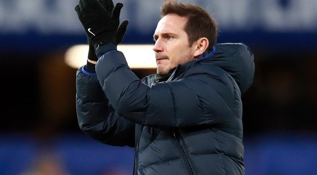 Frank Lampard, pictured, was pleased with Callum Hudson-Odoi's display (Adam Davy/PA)