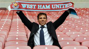 West Ham appointed Gianfranco Zola as boss on a three-year deal (Ian Nicholson/PA).