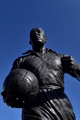 Firing line: the statue of Dixie Dean outside Goodison Park