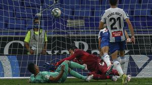 Casemiro, left, fired Real Madrid into the lead at Espanyol (Joan Monfort/AP)