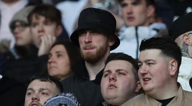 Ollie McBurnie watched Swansea in action at Cardiff (David Davies/PA)