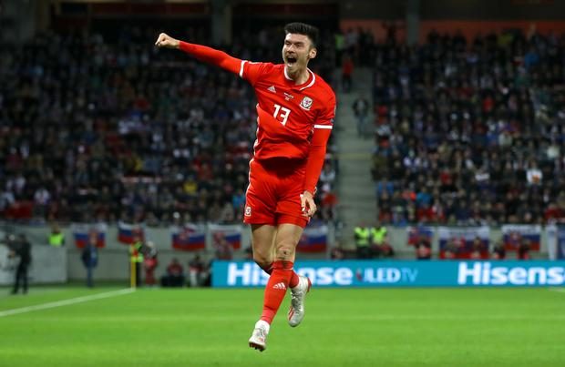Kieffer Moore scored his fifth Wales goal against Mexico on Saturday (Tim Goode/PA)