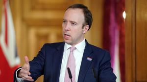 """Health secretary Matt Hancock had called for Premier League players to """"play their part"""" and take a wage cut (Handout/PA)"""