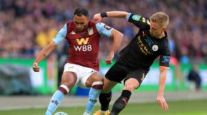 Oleksandr Zinchenko helped Manchester City to another trophy success (Mike Egerton/PA)