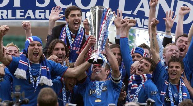 Former Rangers boss Alex McLeish will always cherish his memories of Fernando Ricksen lifting the league title on 'Helicopter Sunday' (Chris Clarke/PA)