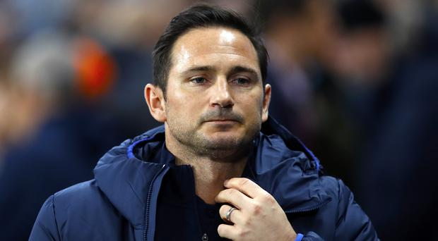 Frank Lampard is facing the first difficult run of his Chelsea managerial career (Martin Rickett/PA)