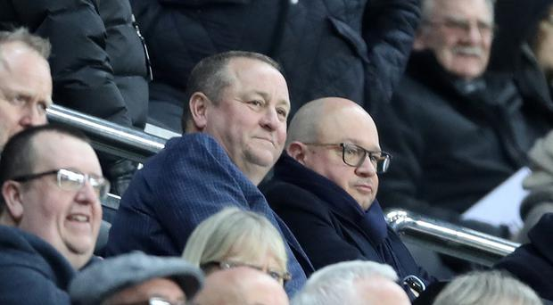 Newcastle owner Mike Ashley was among the crowd as Newcastle beat Rochdale 4-1 in their FA Cup third round replay (Owen Humphreys/PA)
