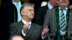 Celtic chief executive Peter Lawwell is to leave the club (Andrew Milligan/PA)