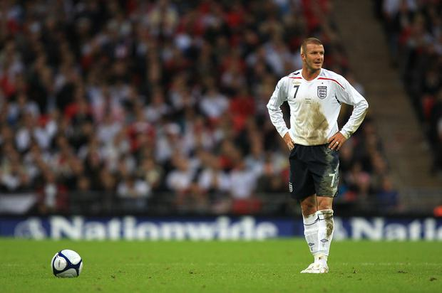 David Beckham was willed back to fitness by a whole nation in 2002