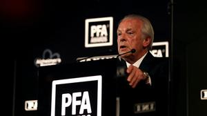 PFA chief executive Gordon Taylor has been speaking about the potential Premier League resumption (Steven Paston/PA)