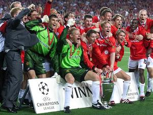 Manchester United's Champions League triumph in 1999 will also be remembered for Tyldesley's iconic commentary. (Phil Noble/PA)