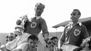 Stanley Matthews, right, inspired Blackpool to FA Cup glory in a memorable final in 1953 (PA Archive)