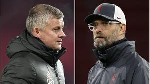 Ole Gunnar Solskjaer and Jurgen Klopp will go head-to-head in the fourth round of the FA Cup (PA)