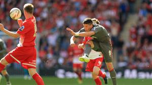 Alex Revell helped Rotherham to promotion in the 2014 League One play-off final (Mike Egerton/PA)