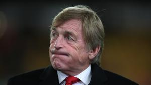 Sir Kenny Dalglish has tested positive for Covid-19 and is in hospital but is showing no symptoms (PA)