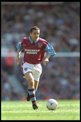 Michael Hughes in action for West Ham in 1996, the year he moved on a Bosman