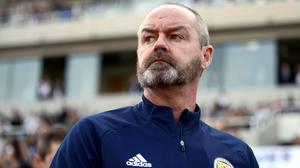 Steve Clarke is preparing for Scotland's delayed play-off (PA)