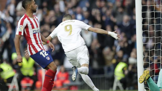 Benzema scored the only goal of the game (AP Photo/Bernat Armangue)