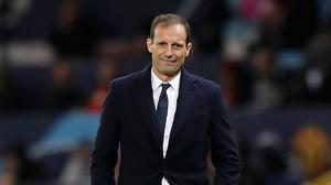 Juventus head coach Massimiliano Allegri is looking ahead to Manchester United's visit (Martin Rickett/PA)